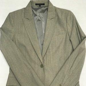 Theory Single Button Tan Wool Blazer Sz 8